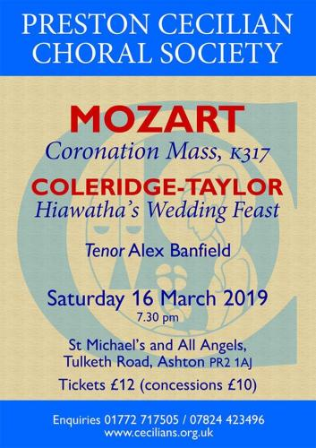 Coronation Mass, K317 by Mozart & Hiawatha's Wedding Feast by Samuel Coleridge-Taylor